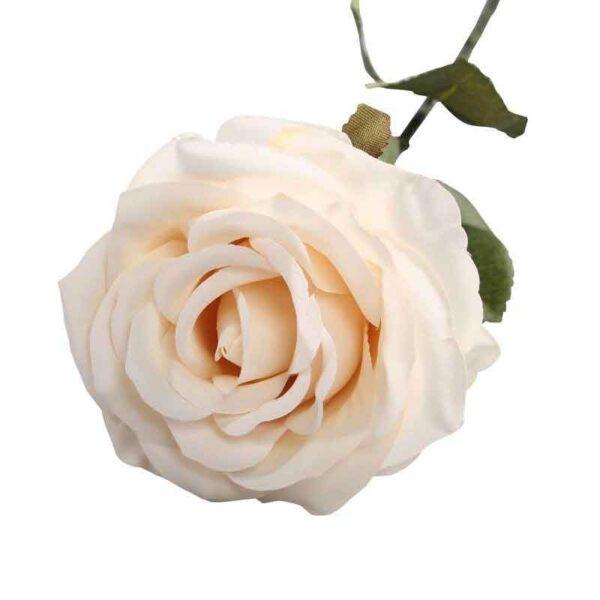 Cream Vintage Rose Stem (75cm)