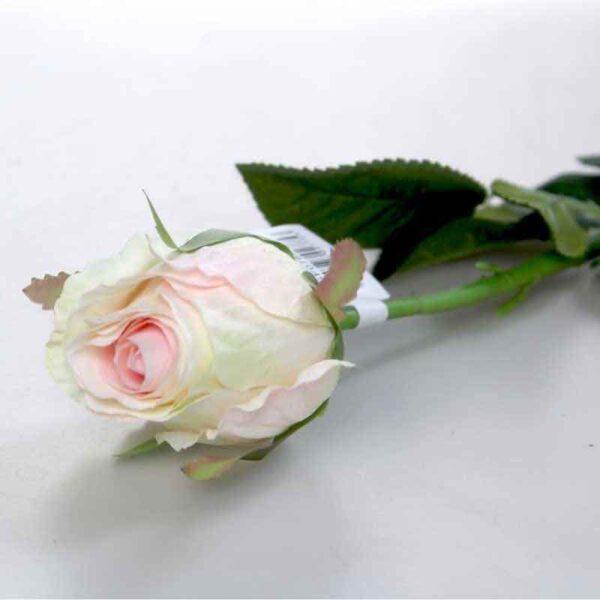 Oxford Cream & Pink Rose Bud Stem (44cm)