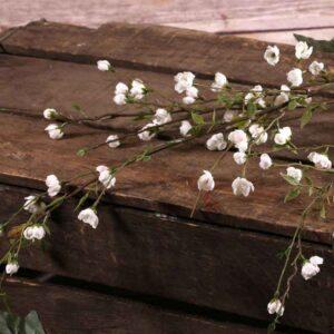 Small Cream Blossom Spray Stem