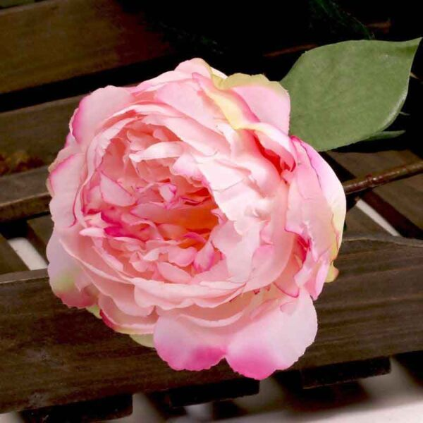 Single Soft Pink Peony Stem (68cm)