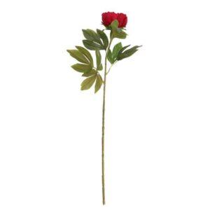 Red Peony Stem (79cm)