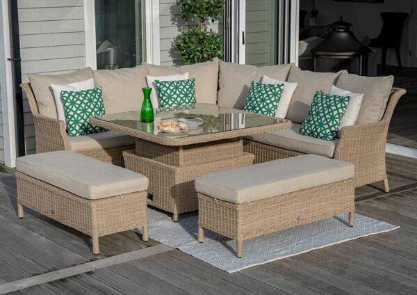 Bramblecrest Oakridge 8 Seat Casual DIning Set Table Up