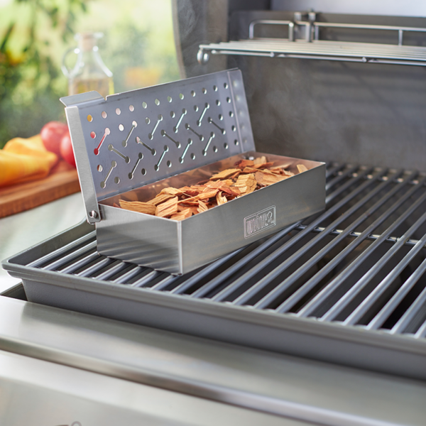 Use Weber Universal Smoker Box on any gas barbecue