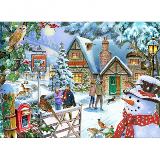 House Of Puzzles Snowman's View 1000 Piece Jigsaw