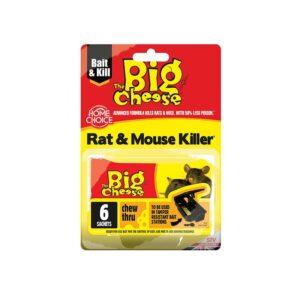 The Big Cheese Rat & Mouse Killer² Grain Bait Chew Thru Sachets (Pack of Six)