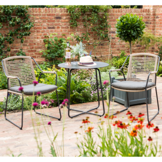 4 Seasons Outdoor - Scandic Dining Set for 2 (Scandic Dining Chairs with Dali Bistro Table) for your outdoor space