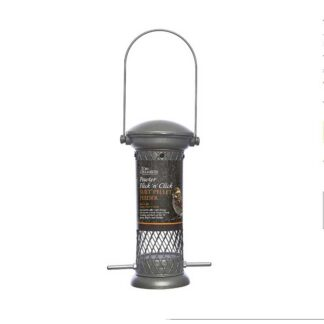 Tom Chambers Pewter Flick 'N' Click Four Port Seed Feeder