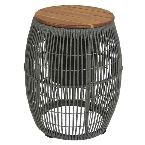 Seville Rope Side Table Grey