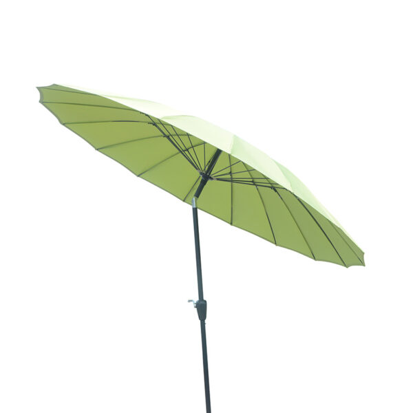 Shanghai 2.7m Crank and Tilt Round Parasol in Lime detail
