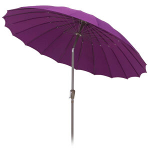 Shanghai 2.7m Crank and Tilt Round Parasol in Plum detail
