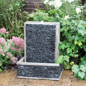 Slate Harbour Wall Water Feature in garden