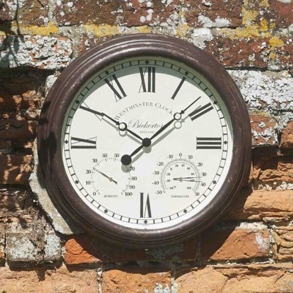 Smart Garden Outside In Bickerton Wall Clock & Thermometer Lifestyle