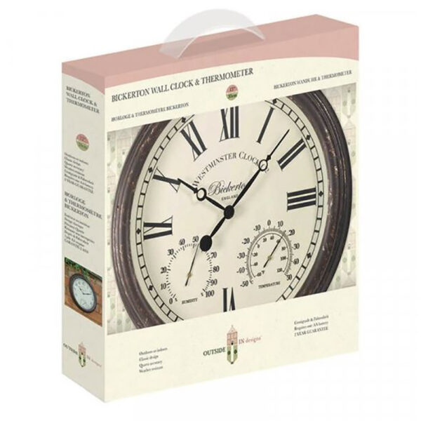Smart Garden Outside In Bickerton Wall Clock & Thermometer Packaging