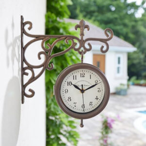 Smart Garden Outside In Double Sided York Station Clock & Thermometer Lifestyle 3