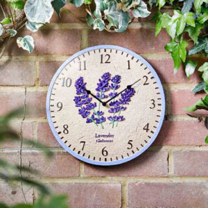 Smart Garden Outside In Lavender Wall Clock Lifestyle