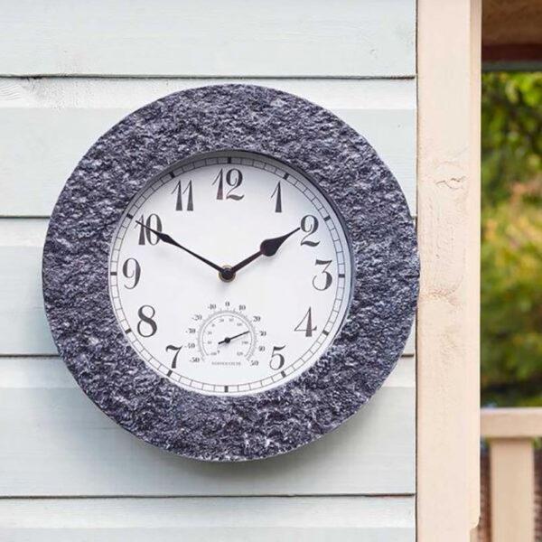 Smart Garden Outside In Stonegate Granite Wall Clock Lifestyle