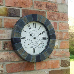 Smart Garden Outside In Stonegate Wall Clock & Thermometer Lifestyle