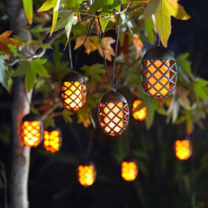 Smart Solar 10 Cool Flame String Lights Lifestyle