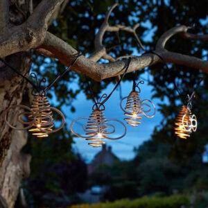 Smart Solar 10 LED Bee String Lights Lifestyle Night