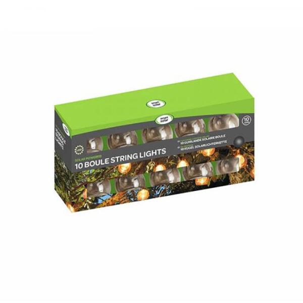 Smart Solar 10 LED Boule String Lights Packaging