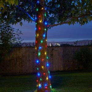 Smart Solar 100 Multi Colour LED Firefly String Lights Lifestyle