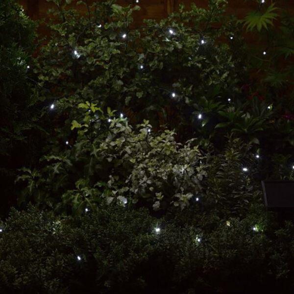 Smart Solar 50 White LED String Lights Lifestyle