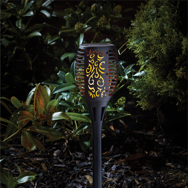 Smart Solar Cool Flame Torch Night Lifestyle