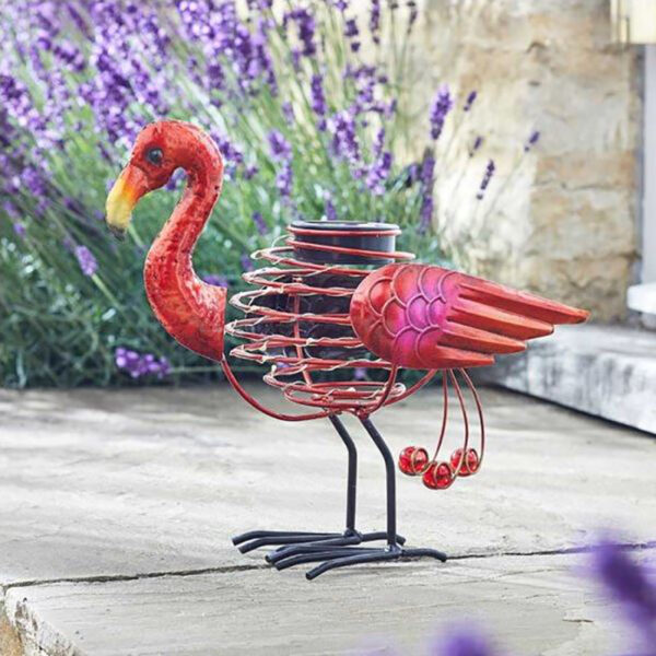 Smart Solar Flamingo Spiralight Decoration Lifestyle Day