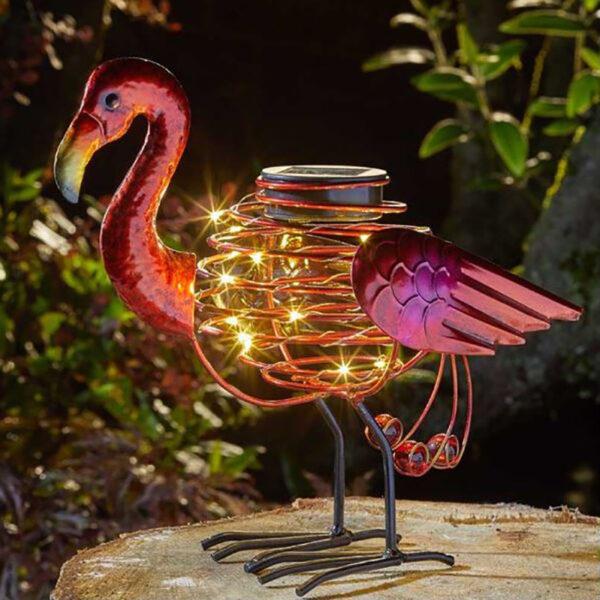 Smart Solar Flamingo Spiralight Decoration Lifestyle Night