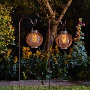 Smart Solar Forli Flaming Lantern 2 Pack Night Lifestyle
