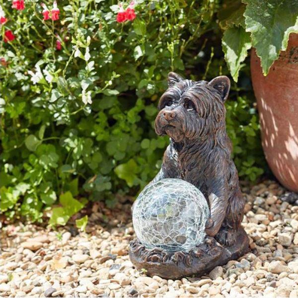 Smart Solar Mystic Dog Garden Ornament Lifestyle Day