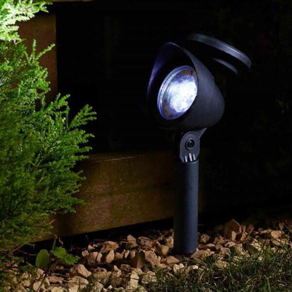 Smart Solar Prima garden Spotlight 3L 4 PK Lifestyle