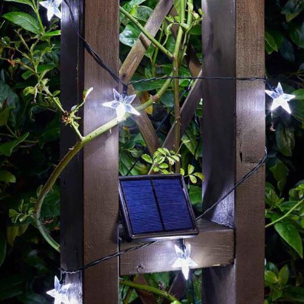 Smart Solar Super Bright 50 LED Star String Lights lifestyle 2