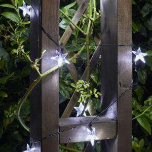 Smart Solar Super Bright 50 LED Star String Lights lifestyle night