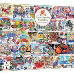 Gibsons Space Hoppers & Scooters 1000 Piece Jigsaw Puzzle