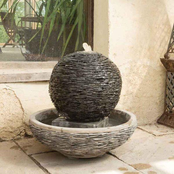 Spherical Lagoon Slate Water Feature