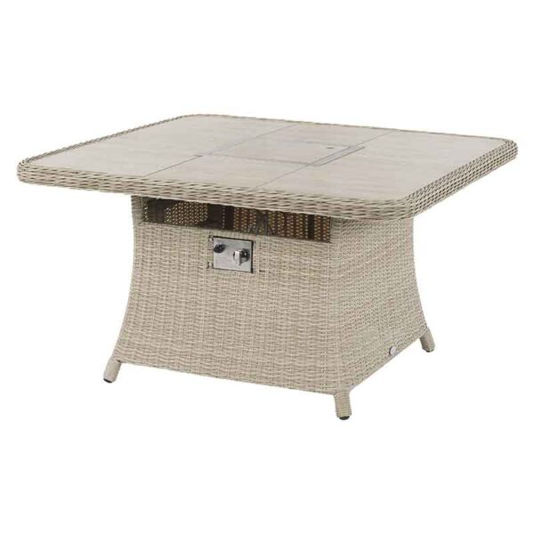 Square Casual Dining Table with Ceramic Top (fire pit away)