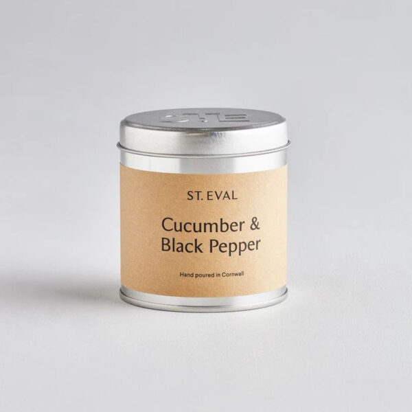St Eval Cucumber & Black Pepper Tin Candle 800px