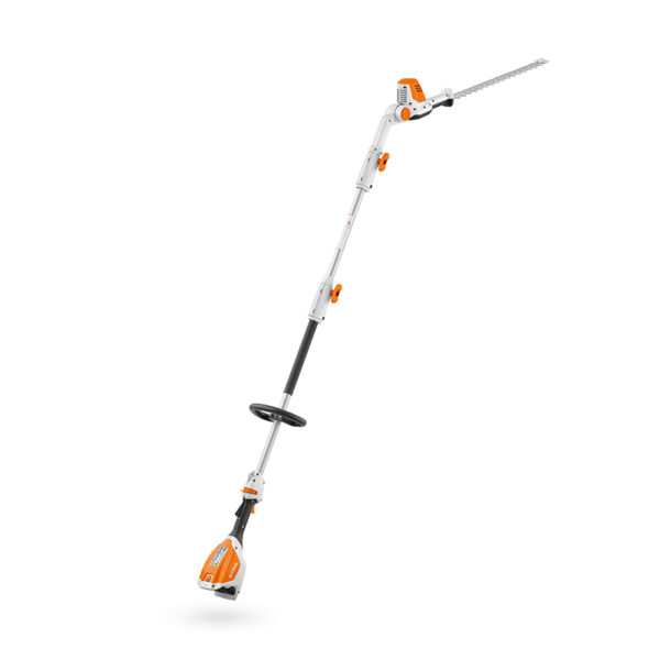 Stihl HLA 56 Cordless Long-Reach Hedge Trimmer with adjustable cutting head angle