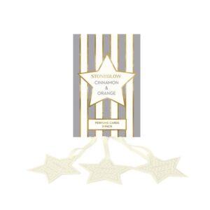 Stoneglow Cinnamon & Orange Perfume Hanging Stars - Pack of 3