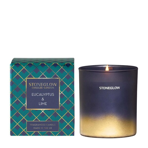 Stoneglow Eucalyptus & Lime Fragranced Candle (1-wick)