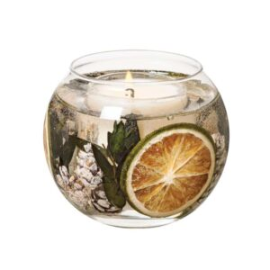 Stoneglow Eucalyptus & Lime Fragranced Fishbowl Candle (1 wick)