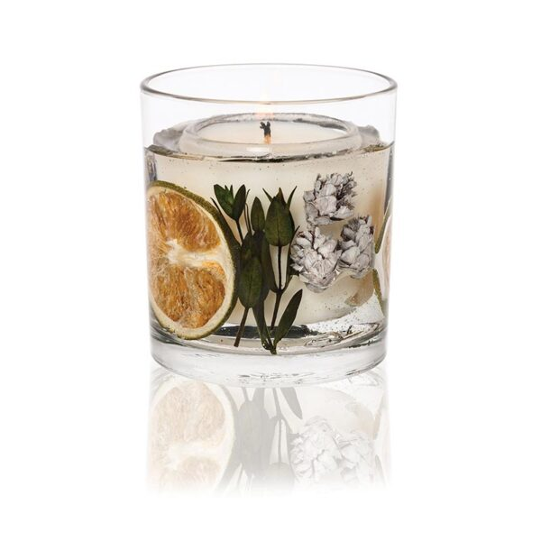 Stoneglow Eucalyptus & Lime Fragranced Gel Tumbler (1 wick)
