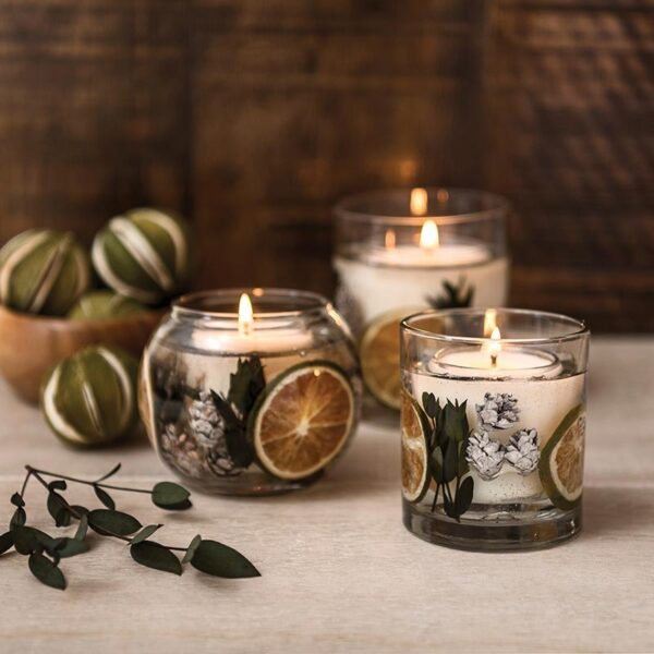 Stoneglow Eucalyptus & Lime Fragranced Gel Tumbler (1 wick) lifestyle