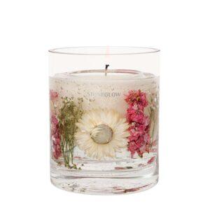 Stoneglow Geranium Rosa Natures Gift Candle