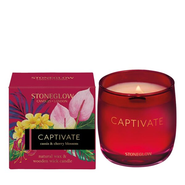 Stoneglow Infusion Captivate Cassis & Cherry Blossom Candle