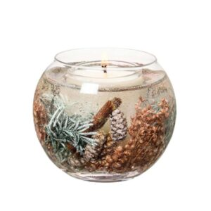 Stoneglow Juniper Berry & Cedar Fragranced Fishbowl Candle (1 wick)