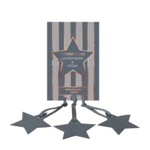Stoneglow Juniper Berry & Cedar Perfume Hanging Stars - Pack of 3