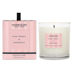 Stoneglow Modern Classics Pink Peony & Gardenia Fragranced Candle (1 wick)