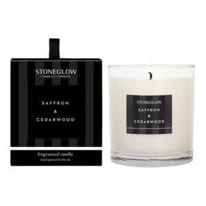 Stoneglow Modern Classics Saffron & Cedarwood fragranced Candle (1 wick)